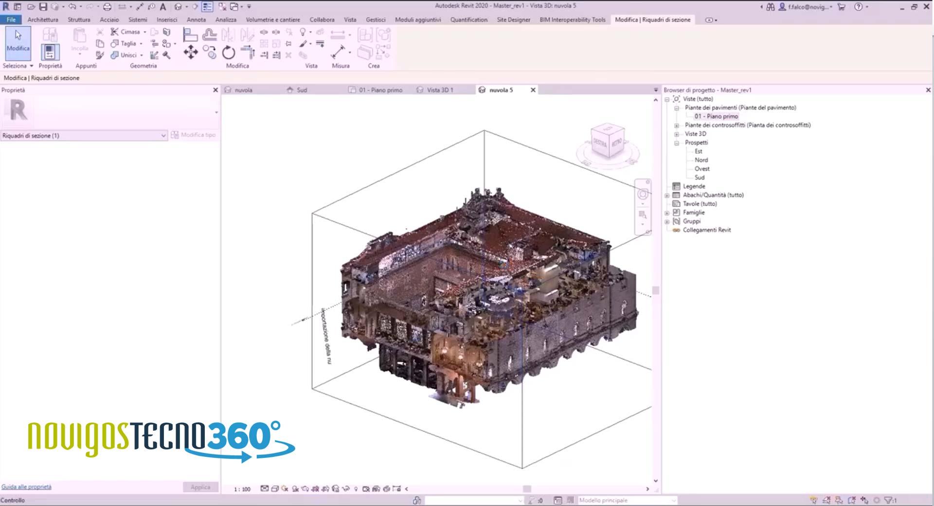 Esecuzione di rilievo con laser scanner per la modellazione As-Built di un edificio parte del patrimonio storico esistente